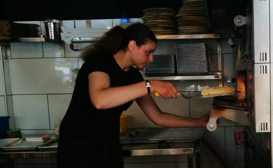 Making khachapuri