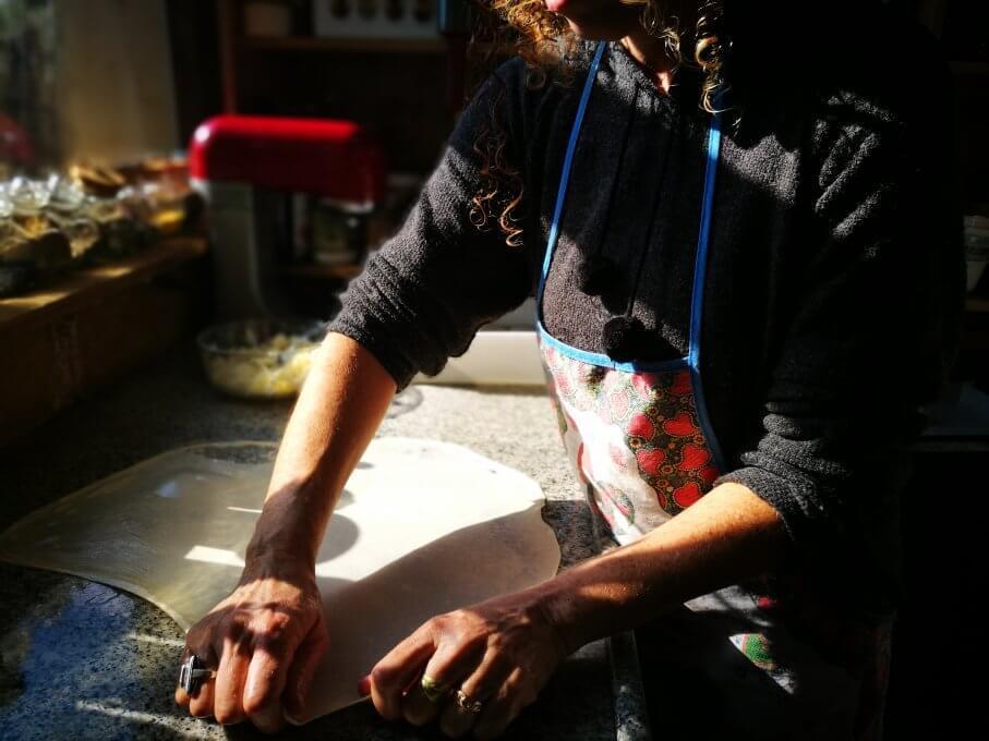 Opening filo dough